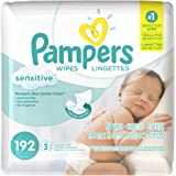 Pampers Sensitive Wipes 3x Refill 192 Count