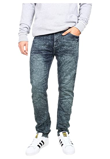 98 86 Herren Sweat Jeans 5 Pocket Used Look Skinny Fit