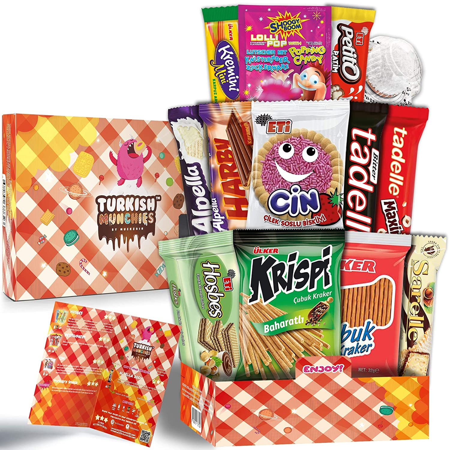 Midi Picnic Time Premium International Snacks Box Variety Pack Care Package for Adults and Kids, Ultimate Assortment of Turkish Treats, Mix pack of snacks, Best Foreign Candy or Foreign Snacks Box