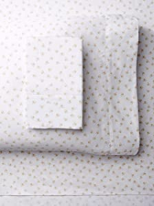 Melange Home 400 Thread Count 100% Cotton Chic Floral Sheet Set, King, Pink, 4 Piece