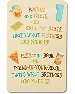 American Greetings Funny Birthday Card For Brother With Foil