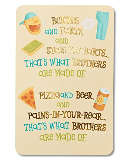 Amazon American Greetings Funny Birthday Card For Brother With
