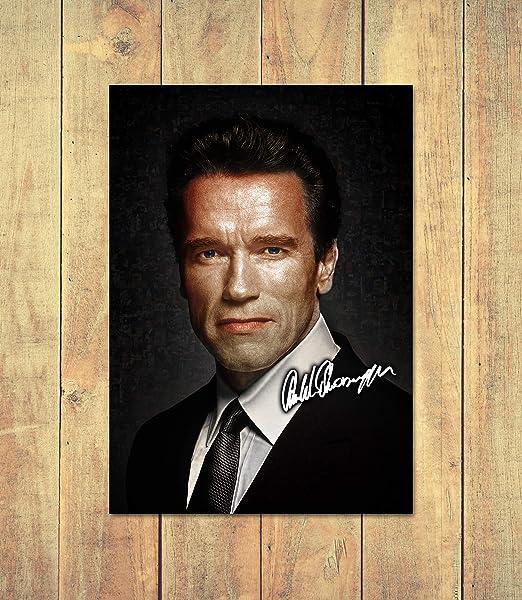 Arnold Schwarzenegger 2 Signed Autograph Poster Print A4 A5 Frame