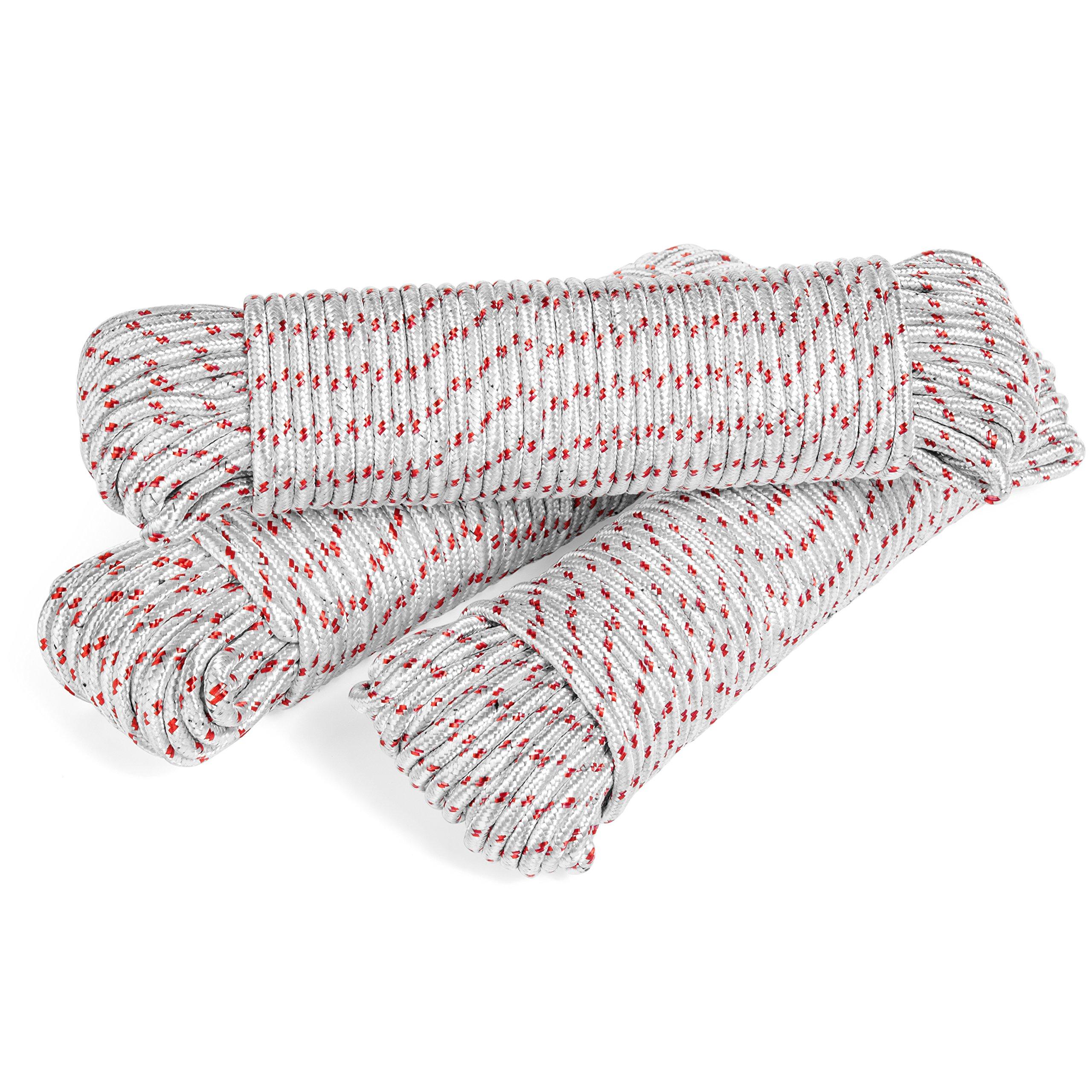 3 pack – Polypropylene Rope – Each Utility Rope 3/16 diameter, 100 ft length - Typhon East
