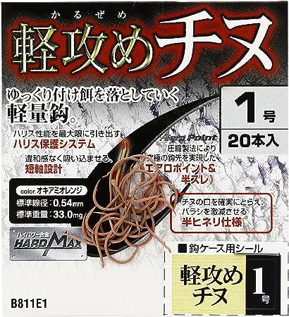 ハヤブサ 鬼掛 軽攻めチヌ オキアミオレンジ 1号の画像