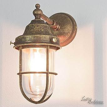Maritime Beleuchtung maritime außenleuchte in bronze antik e27 bis 70 watt 230v wandle