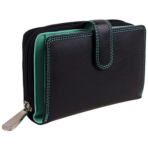 Ladies Compact Leather Purse//Wallet by Visconti Gift Boxed