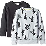Spotted Zebra Boys' 2-Pack Crew Sweatshirts