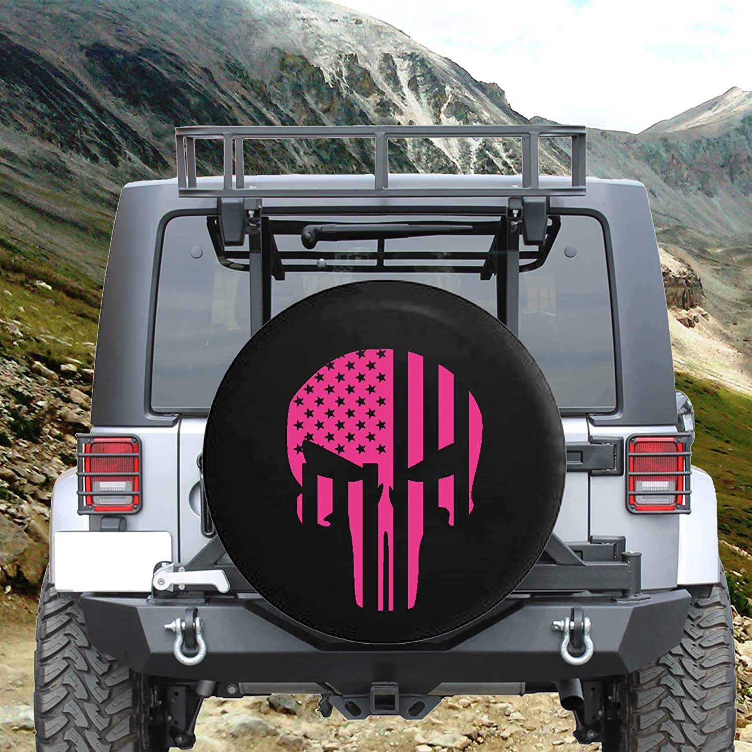 American Flag Tactical Stars & Stripes Patriot Skull Spare Tire ...