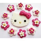 Hell rosa Hello Kitty Essbare Zucker Kuchen Topper Dekorationen