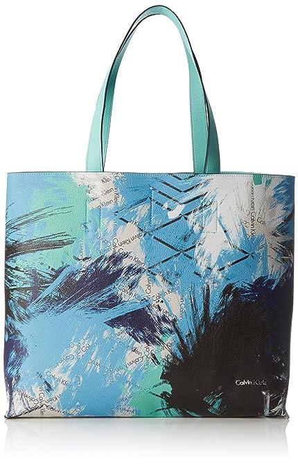 Womens Stacy Shopper Shoulder Bag, Blue (Chambray/Pool 902), 14x35x41 cm (B x H x T) Calvin Klein Jeans