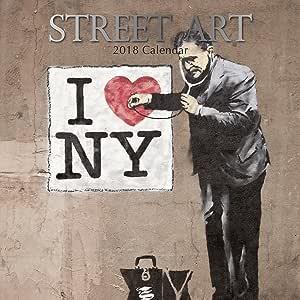 2018 calendario de pared Arte de la calle de calendario