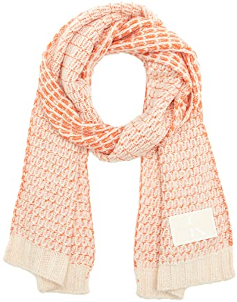 27c714f65329 Calvin Klein J Mary Heavy Knit Scarf, Echarpe Femme, Multicolore (Soft Pink