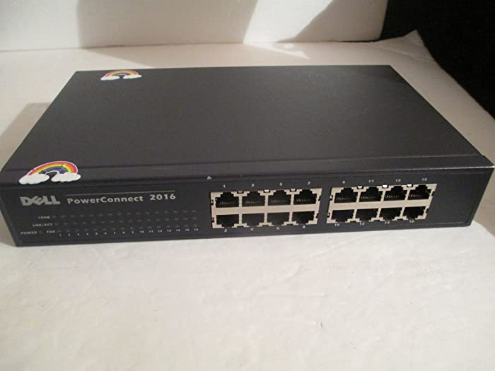 Dell PowerConnect 2016 7H989 16-Port 10/100 Rack-Mountable Unmanaged Switch
