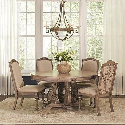 Amazon.com - Coaster Home Furnishings Ilana 5-Piece Round ...