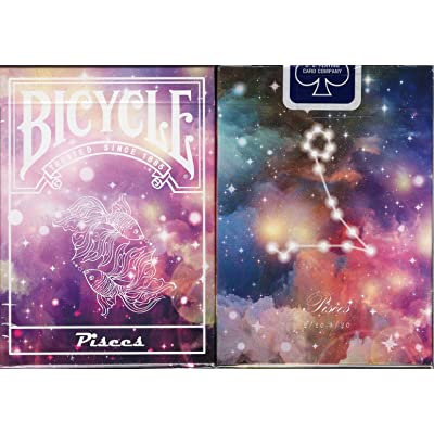 Bicycle Constellation Playing Cards - 12 Designs (Pisces): Sports & Outdoors
