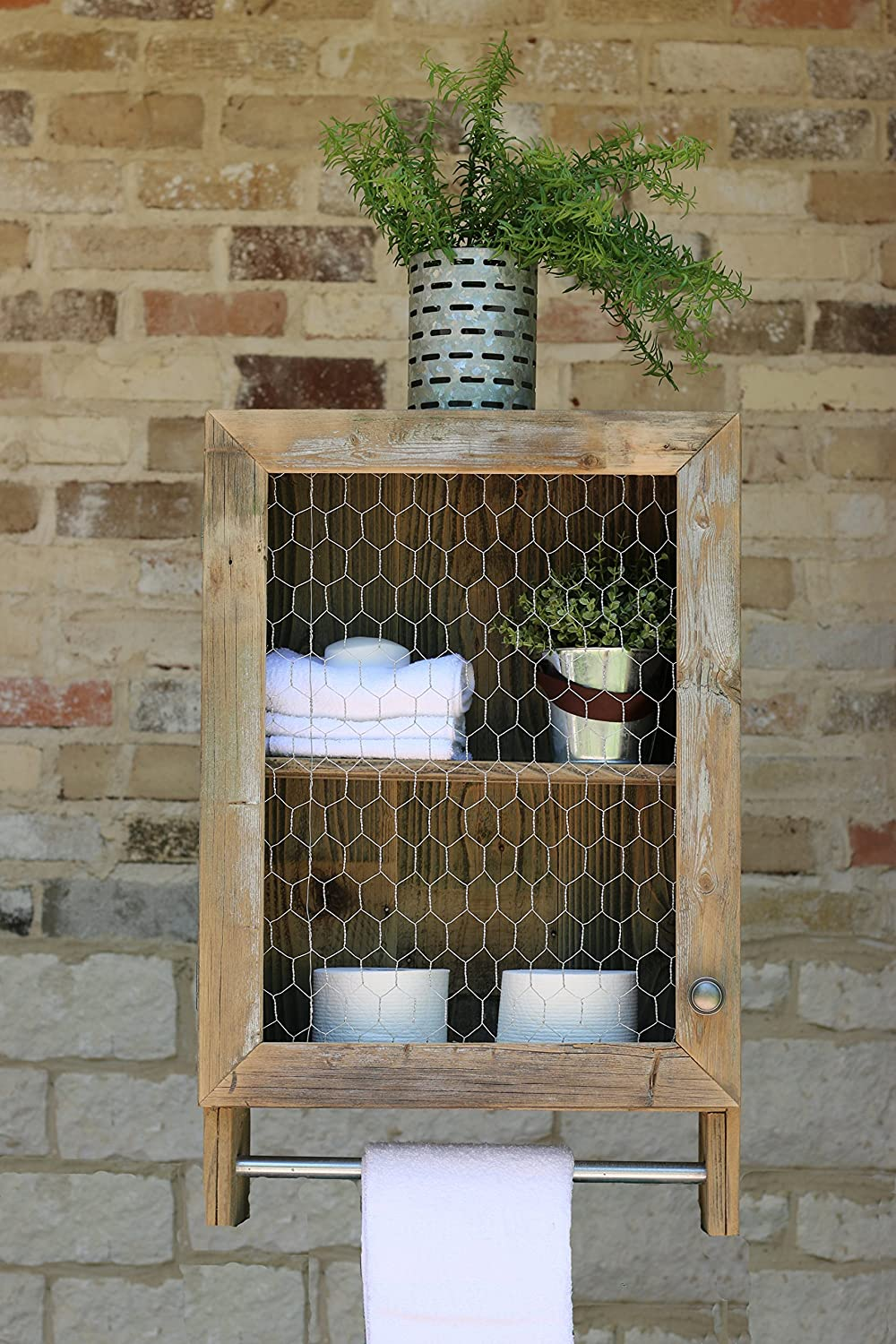 COUNTRY CHIC TOWEL SHELF