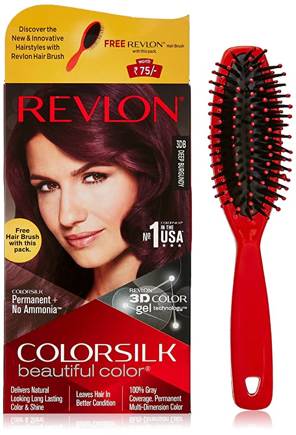 Buy Revlon Colorsilk Hair Color 200g Deep Burgundy 3db With Free