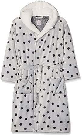 New Look Women\'s 3925483 Dressing Gown, (Dark Grey), Medium: Amazon ...