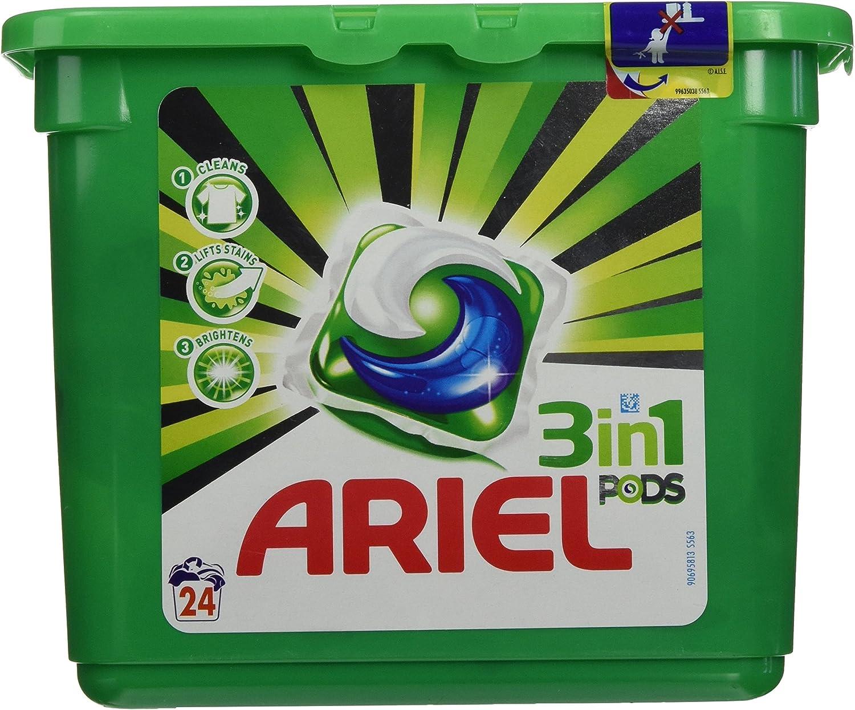 Ariel - Cápsulas de detergente 3 en 1 - 24 unidades - [pack de 2 ...