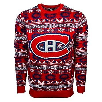 wholesale dealer f0925 91759 Montreal Canadiens NHL Big Logo Ugly Crewneck Sweater ...