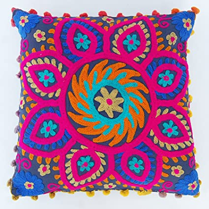 Amazon Com Craft Jaipur Decorative Suzani Cushion Cover Christmas