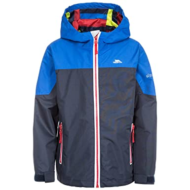 8d6910119 Trespass Kids' Tiebreaker Waterproof Rain Jacket with Removable Hood