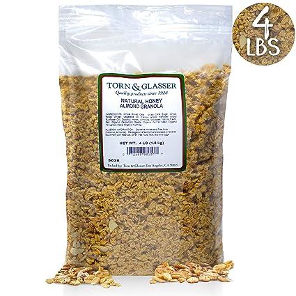 4 libras de granola de miel natural almendra granola ...