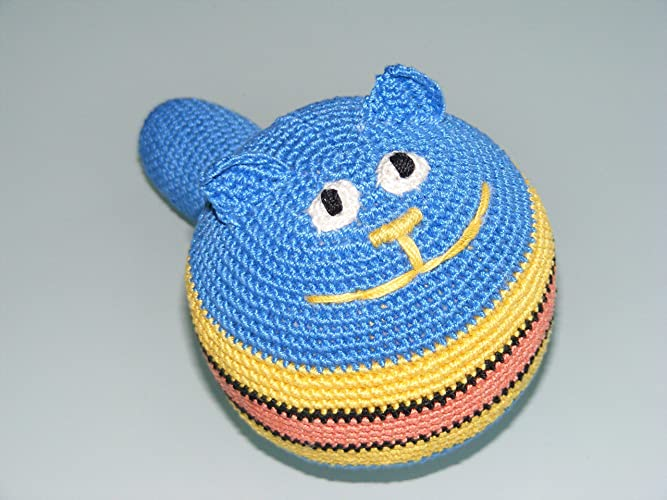 Gefüllte Antistress Ball Häkeln Blaue Katze Einzigartiges Baby