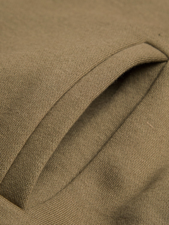 PERSUN Women's Loose Solid Zip Up Sweatshirt Drawstring Fleece Hoodie,Brown,XL by PERSUN (Image #7)