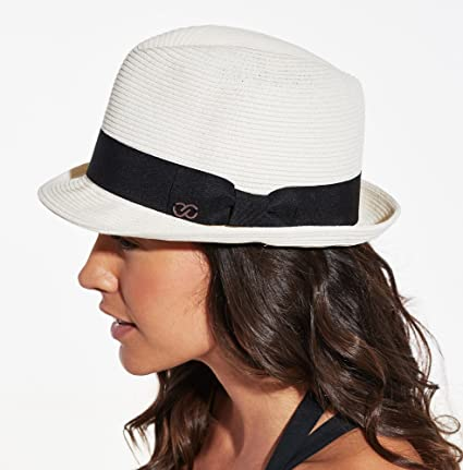 Amazon.com  CALIA by Carrie Underwood Women s Straw Fedora Hat ... 5b308cecd6f5