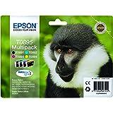 Epson T0895 Multipack Cartouche d'encre d'origine - Bleu/Noir/Rose/Jaune