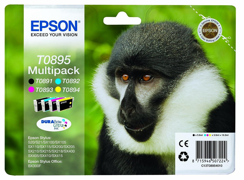 Epson C13T08954010 - Juego De 4 Tinta Epson Multipack válido para EPSON Stylus y EPSON Stylus Office BX300F, Ya disponible en Amazon Dash ...