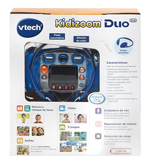 Vtech – Kidizoom Duo 5 0, Digital Camera, Child with 5 Megapixel Camera,  Colour Screen, 10 different functions, 2 Goals (3480 – 507157)