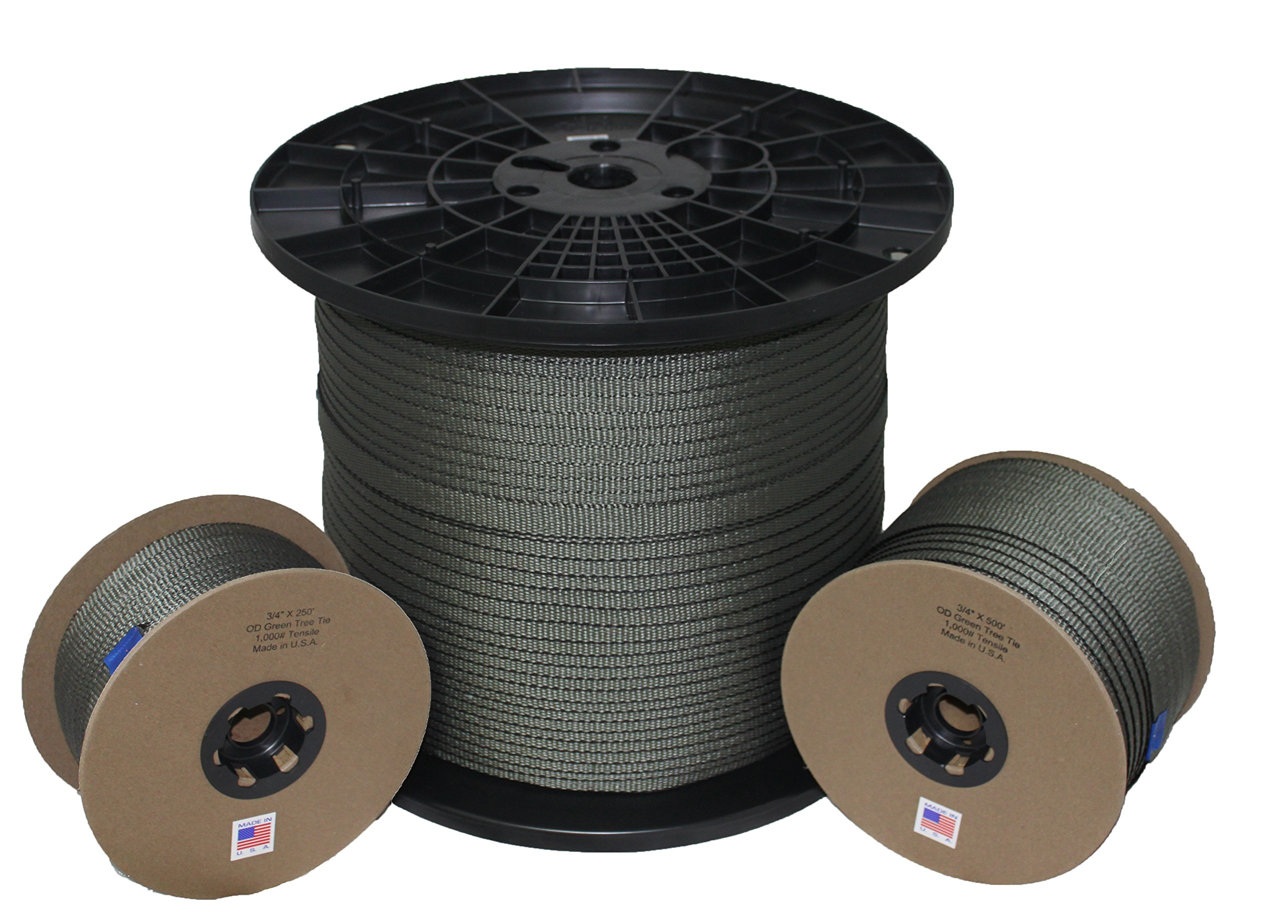 Tree Tie - 3/4 Inch - 1,000 lb. - Guying and Staking - Made in USA (3,000 Feet)