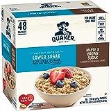 Quaker Instant Oatmeal, Lower Sugar, Maple & Brown Sugar, 48 Count