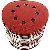 S&R slippapper set 125 mm, Meister, 8 hål, 60 st. slipblad, slipskivor för kardborrband: 10 x P40, 10 x P60, 10 x P80…