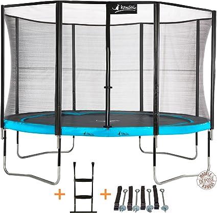 KANGUI Atoll 360 – Cama elástica de jardín 365 cm + Red de Seguridad + Escalera + Kit de Anclaje PUNCHI Atoll 360: Amazon.es: Deportes y aire libre
