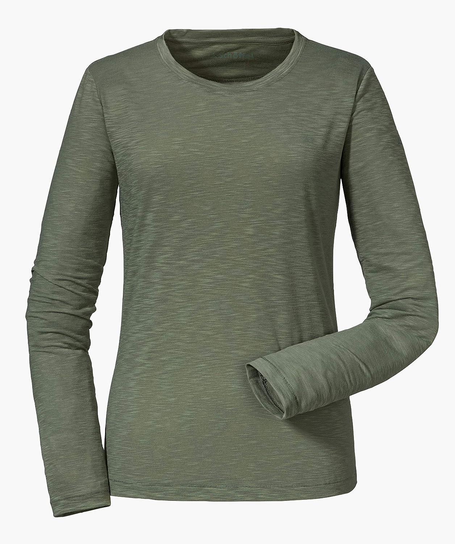 Schöffel Damen Longsleeve La Molina2, elastisches und atmungsaktives Langarmshirt, schnelltrocknendes Damen Oberteil mit höchstem Tragekomfort