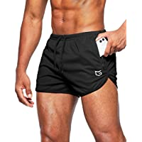 G Gradual Men's Running Shorts 3 Inch Quick Dry Gym Athletic Workout Short Shorts for Men with Liner and Zipper Pockets