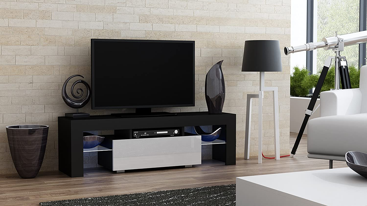 Amazon.com: TV Stand MILANO 130 / Modern LED TV Cabinet / Living Room  Furniture / Tv Console Fit For Up To 55 Part 80