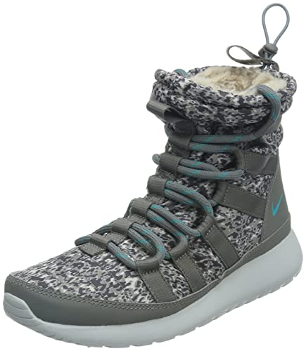 new product ff3d5 7a08b ... shop nike womens wmns rosherun hi sneakerboot print light ash dusty  cactus mdm ash 2f6cd 8dd07