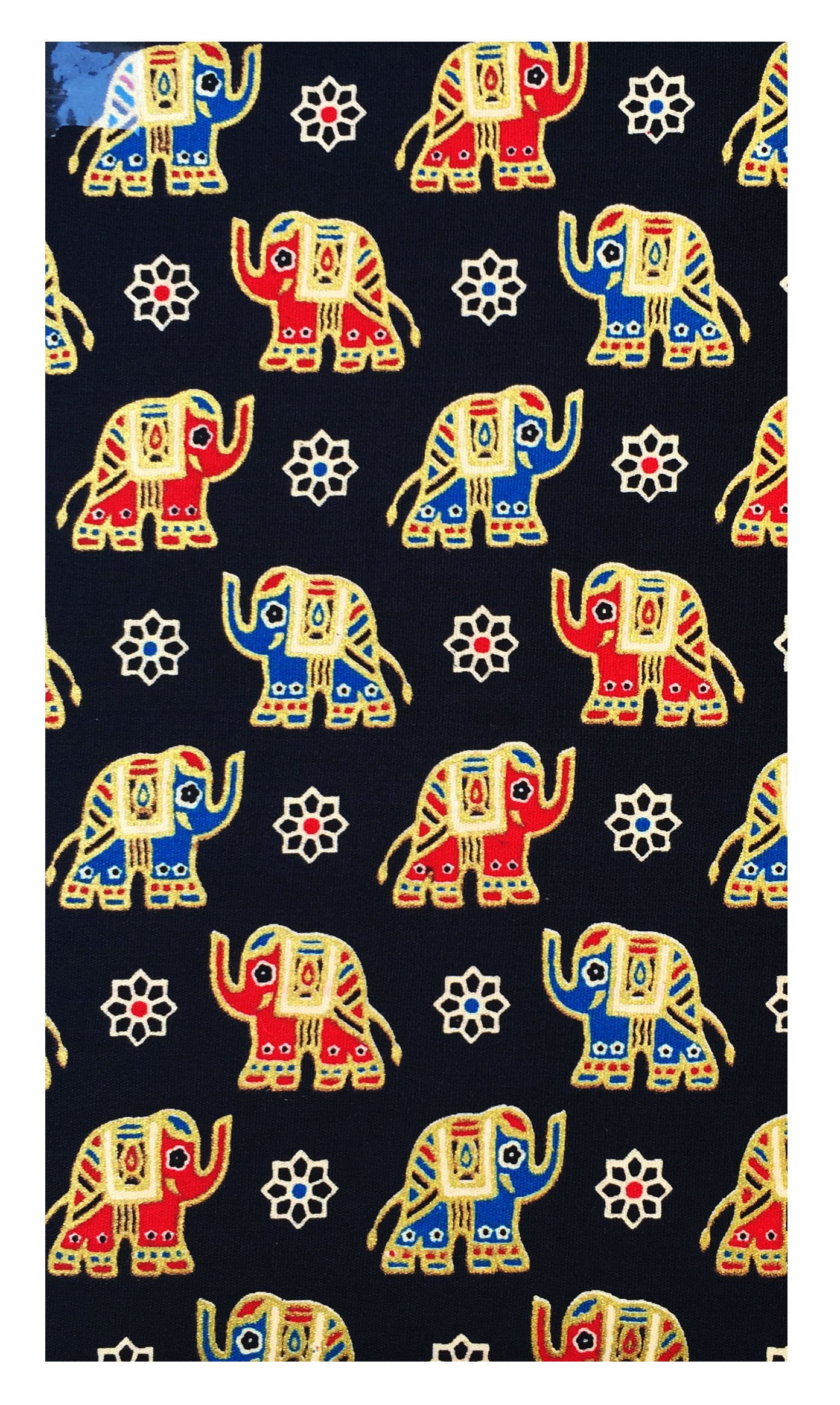 Office Product Black & Gold Elephants Cotton Guest Checks Presenter for Server, Check Holder for Restaurant, Check Book Pocket, Waitstaff Organizer, Restaurant Server Book (With Plastic Cover) 2