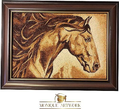 MONIQUE ARTWORK Unique – Handmade Rice Painting Artwork – Original Horse