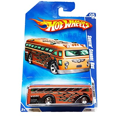 Hot Wheels 2009-111 Brown HW City Works \'09 Surfin\' School Bus 1:64 Scale: Toys & Games [5Bkhe0804971]