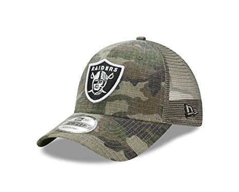 ca0afeb0183 Image Unavailable. Image not available for. Color  Oakland Raiders New Era  Woodland Trucker Duel 9FORTY Adjustable Snapback Hat Camo