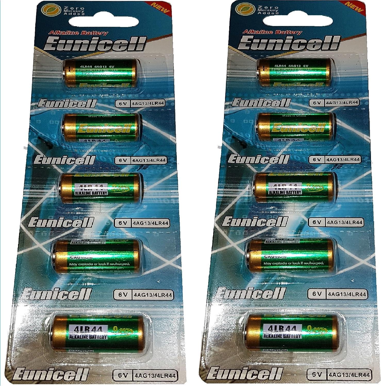 2 Piles Alcaline 4LR44 6V PX28A 476A L1325 EUNICELL