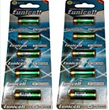 Eunicell Lot de 10 piles alcalines 4LR44 Équivalent 4G13/PX28 6V