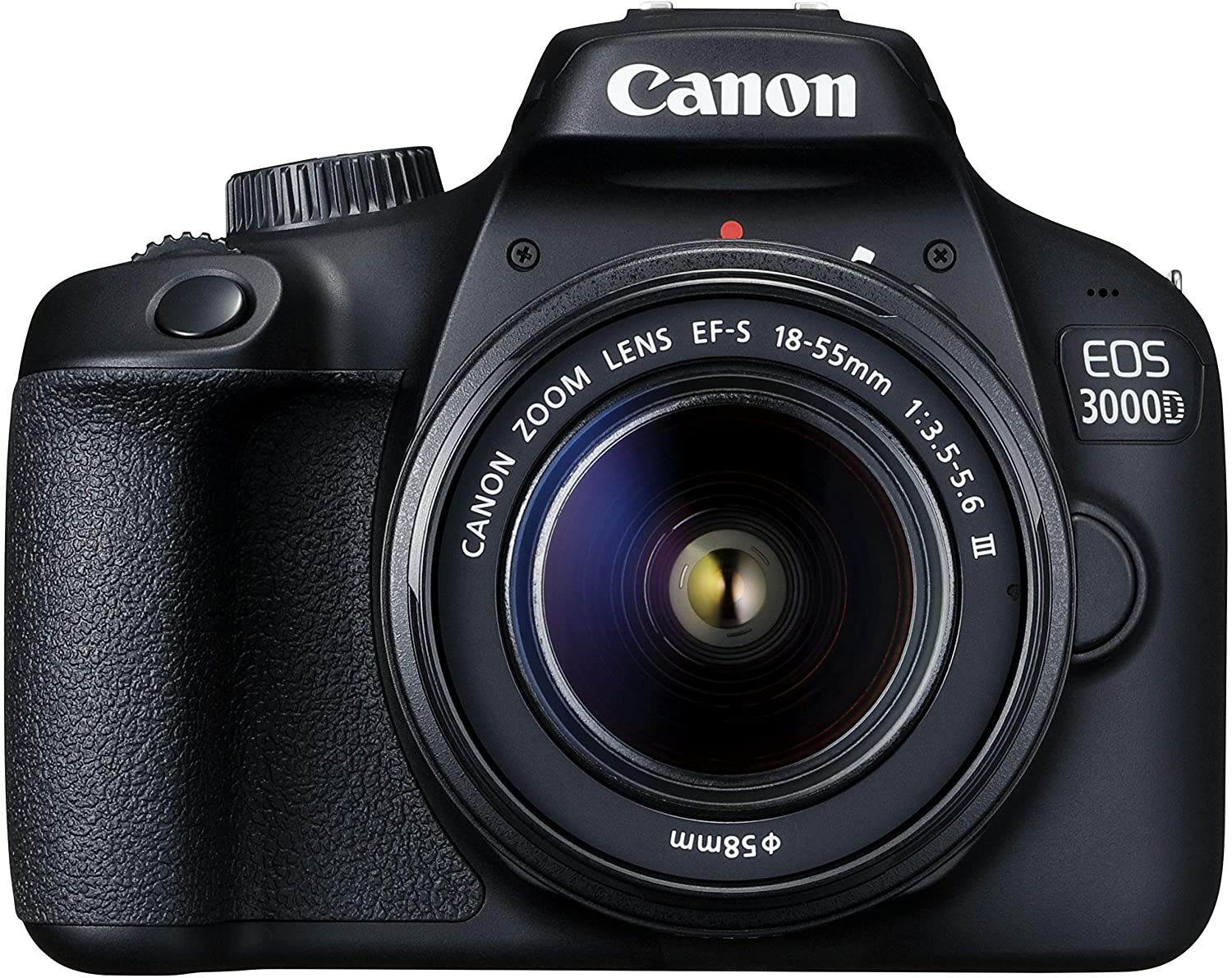 Canon EOS 3000D 18MP Digital SLR Camera  Black  with 18 55mm is II Lens, 16 GB Card and Carry Case Digital SLRs
