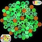 "JOYIN 72 Glow in The Dark Bouncing Balls 1.25"" | 6 Halloween Theme Designs | for Halloween Bouncy Party Favor Supplies…"